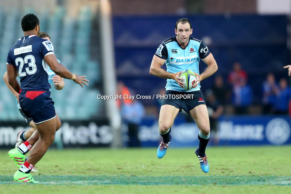 Matt Carraro. Waratahs v Rebels, Super Rugby Round 6. Played at Allianz Stadium, Sydney Australia on Sunday 3 April 2016. Copyright Photo: Clay Cross / photosport.nz