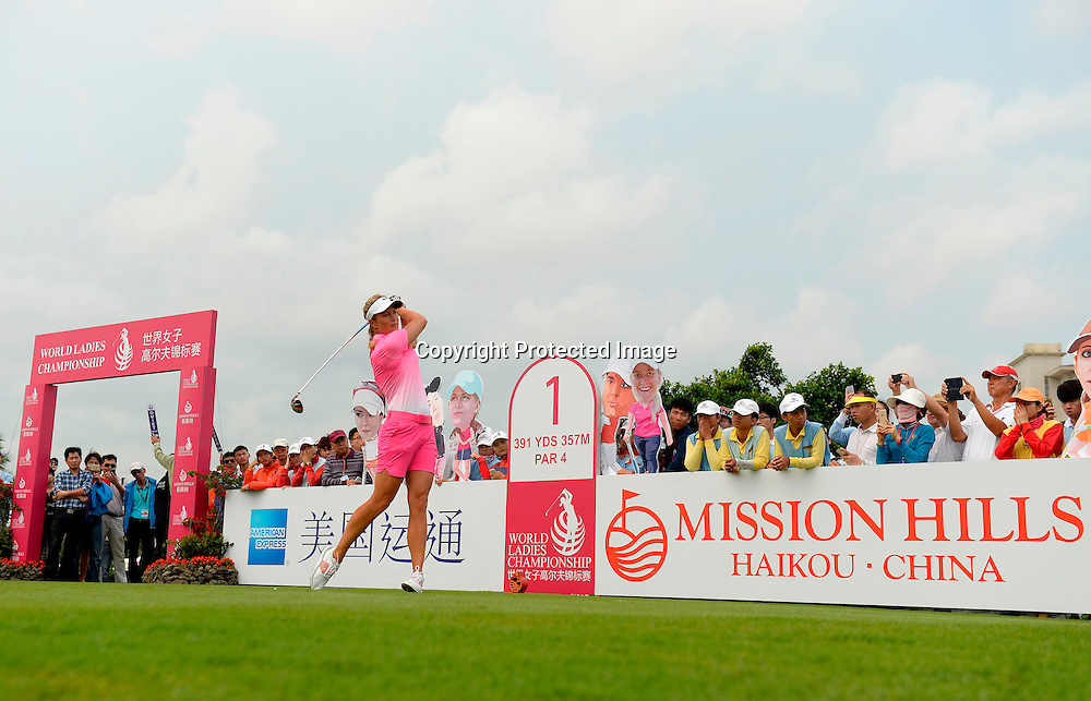 HAIKOU- HAINAN ISLAND-CHINA- Suzzan Petterson of Norway in action, Saturday, March 14, 2015, during the third round of the World Ladies Championship at the Blackstone Course, Mission Hills Golf Resort, Haikou, Hainan Island, China. Picture by Paul Lakatos/Mission Hills.