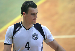 Jernej Potocnik of Salonit at last final volleyball match between OK ACH Volley and Salonit Anhovo, on April 21, 2009, in Arena SGS Radovljica, Slovenia. ACH Volley won the match 3:0 and became Slovenian Champion. (Photo by Vid Ponikvar / Sportida)