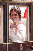 Royal Wedding of Princess Eugenie and Jack Brooksbank at Windsor Castle Berkshire England