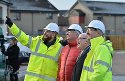 Housing Minister Kevin Stewart visits a major affordable housing development in Muirhouse, Edinburgh to coincide with the release of the latest quarterly housing statistics.<br /> <br /> © Dave Johnston/ EEm