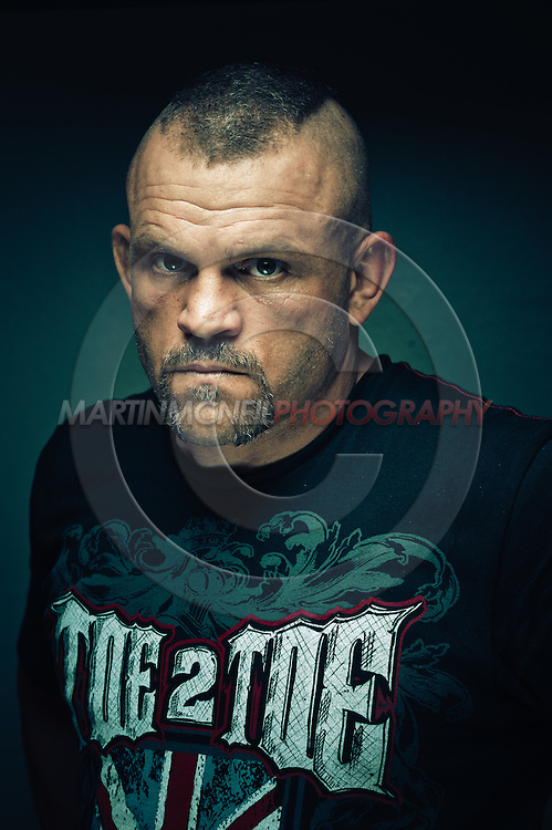 A portrait of mixed martial arts athlete Chuck Liddell