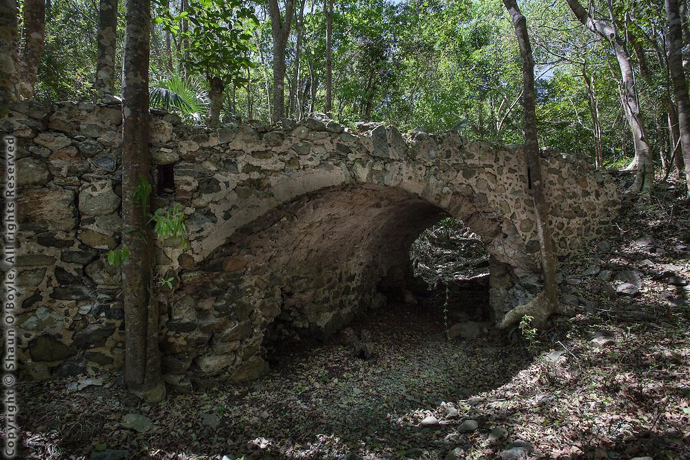 Fredriksdal Ruin, Old Danish Road & Bridge, St John, USVI