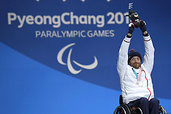 FRANCOIS_Frederic, Para Alpine Skiing, ParaSkiAlpin, Super Combined, Podium at  the PyeongChang2018 Winter Paralympic Games, South Korea.