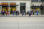 2017 MARCH 05 - People on 3rd Ave between Pine and Pike streets, Seattle, WA, USA. By Richard Walker