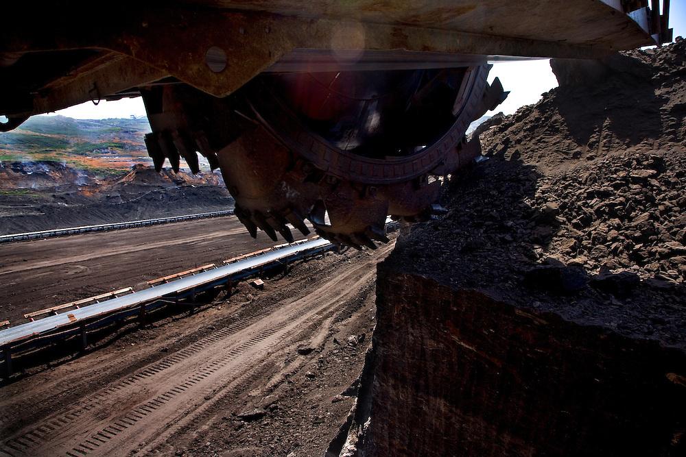 Mining operations near the town of Oblilc, fueling the Kosova Energy Corporation (KEK) plants...Obilic, Kosovo, Serbia.
