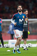 Isco of Spain warms up before the International friendly game football match between Spain and Argentina on march 27, 2018 at Wanda Metropolitano Stadium in Madrid, Spain - Photo Rudy / Spain ProSportsImages / DPPI / ProSportsImages / DPPI