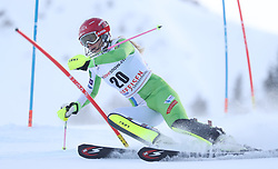 28.01.2018, Lenzerheide, SUI, FIS Weltcup Ski Alpin, Lenzerheide, Slalom, Damen, 1. Lauf, im Bild Ana Bucik (SLO) // Ana Bucik of Slovenia in action during her 1st run of ladie's Slalom of FIS ski alpine world cup in Lenzerheide, Austria on 2018/01/28. EXPA Pictures © 2018, PhotoCredit: EXPA/ Sammy Minkoff<br /> <br /> *****ATTENTION - OUT of GER*****