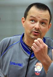 Referee Strnad Podlesnik at 12th Round of UPC League basketball match between KK Luka Koper and KK Zlatorog Lasko, on May 2, 2009, in Arena Bonifika, Koper, Slovenia. Zlatorog won the match 72:71. (Photo by Vid Ponikvar / Sportida)