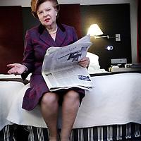 Nederland,Amsterdam ,4 november 2008.Vaira V??e-Freiberga (Riga, 1 december 1937) was de eerste vrouwelijke president van Letland. Zij regeerde Letland van 1999 tot 8 juli 2007, waarna ze werd opgevolgd door Valdis Zatlers..First female president of Latvia,  Vaira Vike-Freiberga (Riga, 1 december 1937) .
