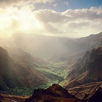 Sunrise at Waimea Canyon(Grand Canyon of the Pacific), Kauai