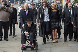 © licensed to London News Pictures. London, UK 18/12/13 Ronnie Biggs has died today aged 84. FILE PICTURE dated 20/03/2013. Ronnie Biggs posing to photographers at great train robber Bruce Reynolds' funeral at St Bartholomew The Great in London. Photo credit: Tolga Akmen/LNP
