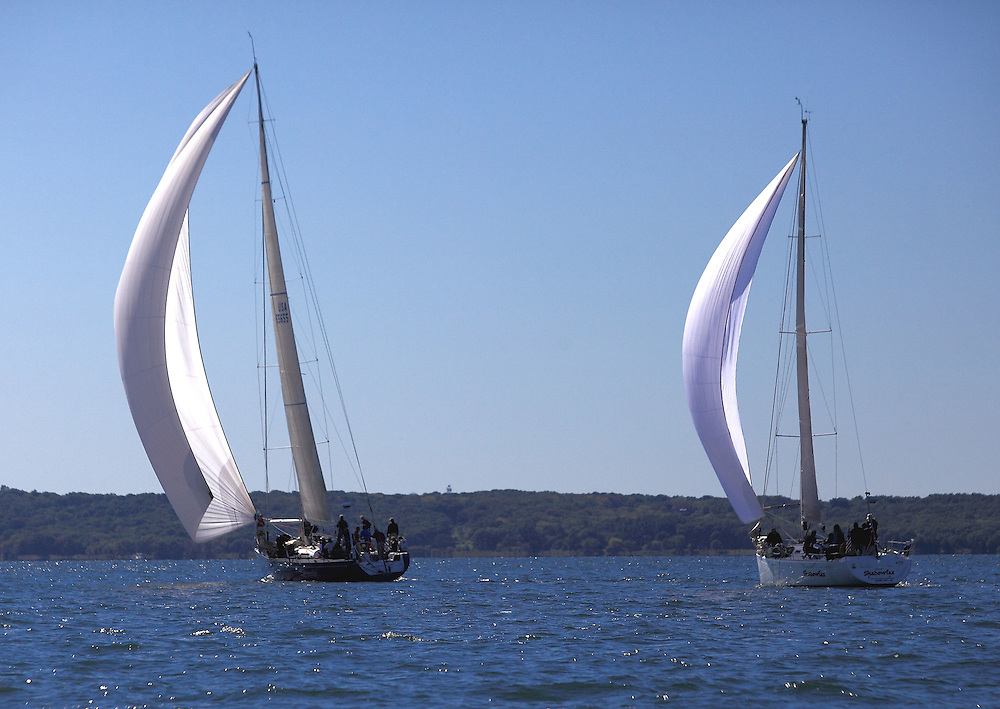 Downwind at the 9th Annual Sail for Hope event in Newport, RI.