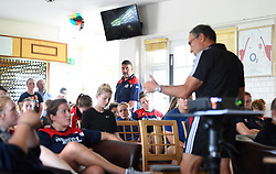 Bristol Ladies head coach Kris de Scossa listens to a presentation by Dr Dave Alred - Mandatory by-line: Paul Knight/JMP - 29/07/2017 - RUGBY - Bristol Ladies Rugby pre-season training