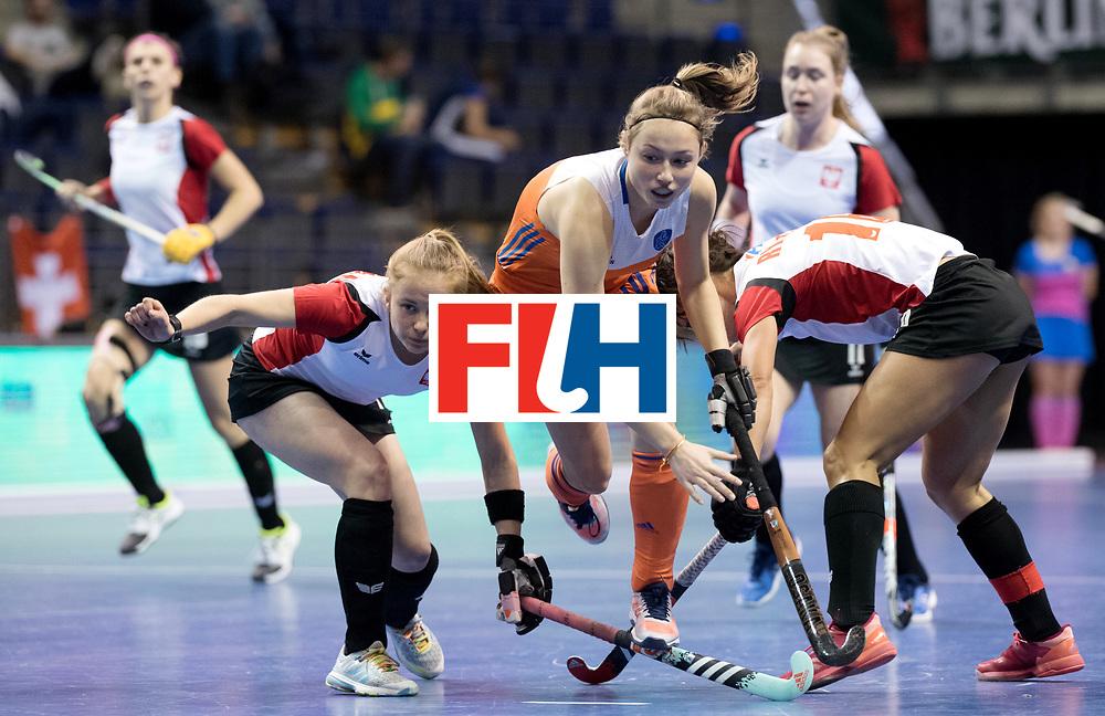 BERLIN - Indoor Hockey World Cup<br /> Women: Poland - Netherlands<br /> foto: Marijn Veen.<br /> WORLDSPORTPICS COPYRIGHT FRANK UIJLENBROEK