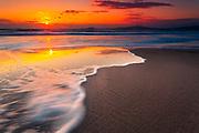 Winter sunrise by the sea