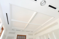 ACMAT Corporation Administrative Headquarters Building. Construction Progress View.Architect: Quisenberry Arcari Architects, LLC  Contractor: Enfield Builders, Inc.  EBI Project #11-013.James R Anderson Photography   New Haven CT   photog.com.Date of Photograph: 24 July 2012  Image No. 11.Camera View: Southwest, Ceiling Office 110