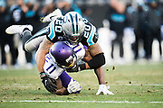 December 10, 2017: Minnesota vs Carolina. Kurt Coleman tackles Treadwell, Laquon