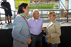 20120922 BRUNO CAVICCHI COL SINDACO DI SANT'AGOSTINO FABRIZIO TOSELLI E MARCELLA ZAPPATERRA