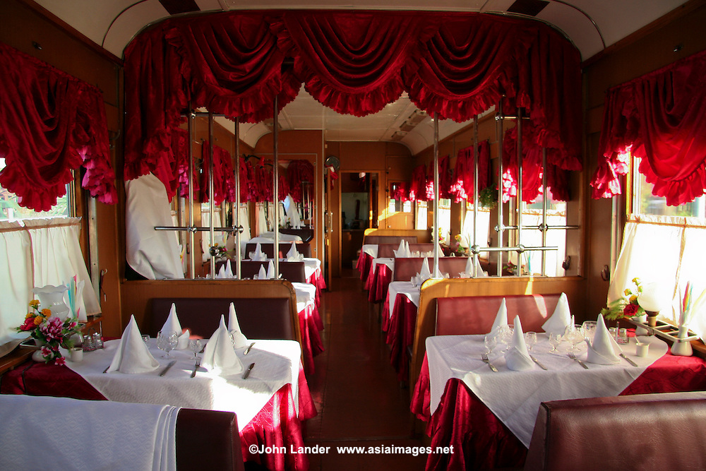 Red Arrow Dining Car, Russian Railways - The Red Arrow is a Russian sleeper train connecting Moscow and Saint Petersburg via the Moscow–Saint Petersburg Railway. It started its first regular service in 1931. In 1962, the deep red color of the train was adopted.