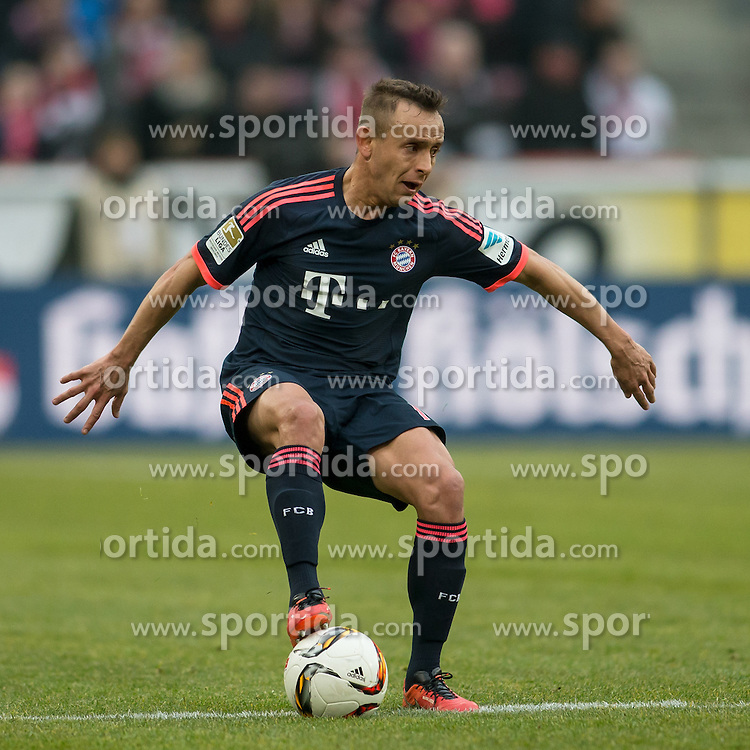 19.03.2016, Rhein Energie Stadion, Koeln, GER, 1. FBL, 1. FC Koeln vs FC Bayern Muenchen, 27. Runde, im Bild Rafinha (FC Bayern Muenchen #13) // during the German Bundesliga 27th round match between 1. FC Cologne and FC Bayern Munich at the Rhein Energie Stadion in Koeln, Germany on 2016/03/19. EXPA Pictures &copy; 2016, PhotoCredit: EXPA/ Eibner-Pressefoto/ Sch&uuml;ler<br /> <br /> *****ATTENTION - OUT of GER*****