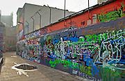 Grafitti walls  in Werregaren Straat, Ghent, Belgium