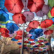 Located in the Vinopolis Piazza by Borough Market is this wonderful, Crayola-coloured canopy of umbrellas.
