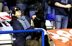 A dog sat in with the Leeds United fans celebrates Chris Wood of Leeds United scoring a goal - Mandatory by-line: Robbie Stephenson/JMP - 03/03/2017 - FOOTBALL - St Andrew's Stadium - Birmingham, England - Birmingham City v Leeds United - Sky Bet Championship