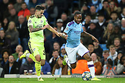 Manchester City midfielder Raheem Sterling (7) runs on goal during the Champions League match between Manchester City and Dinamo Zagreb at the Etihad Stadium, Manchester, England on 1 October 2019.