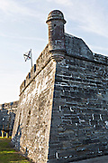 Walls of Castillo de San Marcos in St. Augustine, Florida. St Augustine is the oldest city in America.