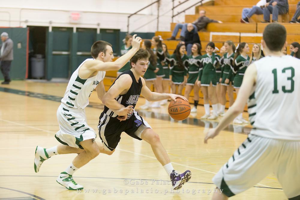 John Jay Varsity Basketball game at Yorktown High School on January 30, 2015. (photo by Gabe Palacio)