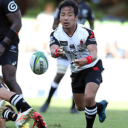 DURBAN, SOUTH AFRICA - MARCH 10: Yutaka Nagare of the HITO-Communications Sunwolves during the Super Rugby match between Cell C Sharks and Sunwolves at Jonsson Kings Park Stadium on March 10, 2018 in Durban, South Africa. (Photo by Steve Haag/Gallo Images)