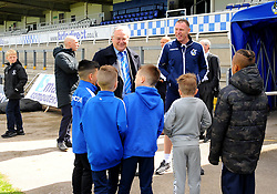 Bristol Rovers manager Graham Coughlan talks to Academy players ahead of kick -off- Mandatory-by line: Nizaam Jones/JMP - 04/05/2019 - FOOTBALL - Memorial Stadium - Bristol, England - Bristol Rovers v Barnsley - Sky Bet League One