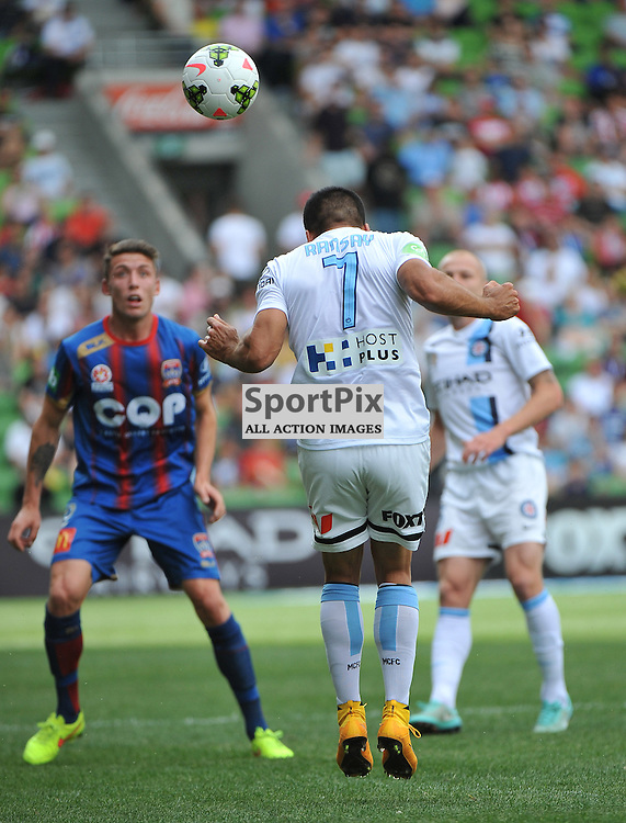 Iain Ramsay (Melbourne City) during the Hyundai A- League, round 2 match, between Melbourne City &amp; the Newcastle Jets held at Aami Park Stadium, Melbourne, Victoria on the 19th October 2014.<br /> WAYNE NEAL | SportPix.org.uk