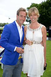 BEN FOGLE and his wife MARINA at the Audi International Polo at Guards Polo Windsor Great Park, Egham, Surrey on 28th July 2013.