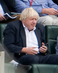 © Licensed to London News Pictures. 08/09/2018. London, UK. Former foreign secretary BORIS JOHNSON  is seen  watching an England test match against India at The Oval cricket ground in London. It was announced yesterday that Mr Johnson is to divorce his wife of 25 years, Marina Wheeler. Photo credit: Ben Cawthra/LNP