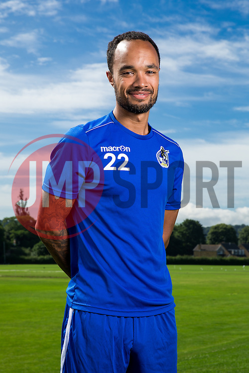 Byron Moore of Bristol Rovers poses during a portrait session ahead of the 2016/17 Sky Bet League One campaign - Mandatory byline: Rogan Thomson/JMP - 18/07/2016 - FOOTBALL - The Lawns Training Ground - Bristol, England - Bristol Rovers Pre-Season Portrait Session.