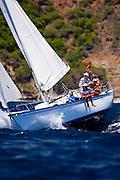 Sunshine sailing in the 2010 Antigua Classic Yacht Regatta, Windward Race, day 4.