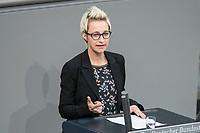 14 FEB 2019, BERLIN/GERMANY:<br /> Nadine Schoene, MdB, CDU, Bundestagsdebatte, Plenum, Deutscher Bundestag<br /> IMAGE: 20190214-01-014<br /> KEYWORDS: Bundestag, Debatte, Nadine Schöne