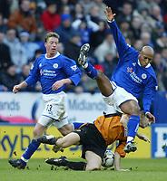 Foto: Digitalsport<br /> NORWAY ONLY<br /> Leicester v Wolverhampton<br /> 28th February 2004<br /> <br /> JORDEN STEWART AND ALEX RAE