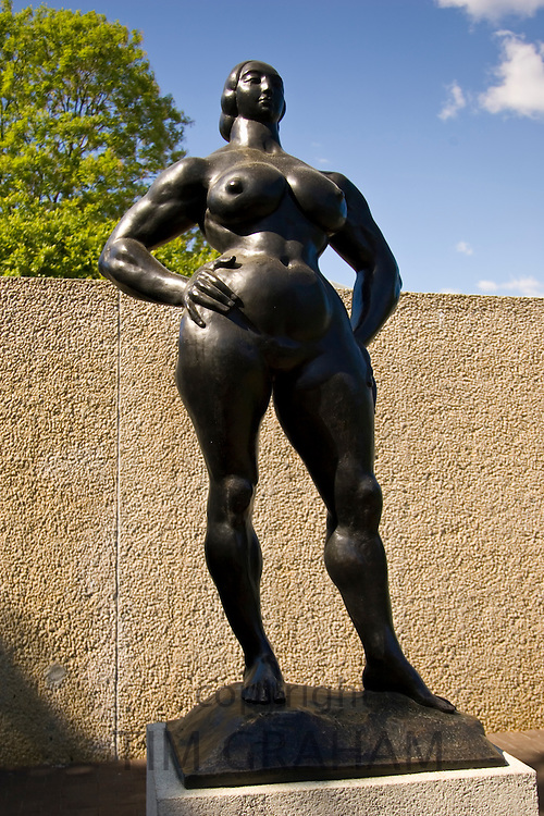 'Standing Woman' by sculptor Gaston Lachaise at The Hirshhorn Museum and Sculpture Garden, USA