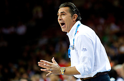Sergio Scariolo, head coach of Spain during basketball game between National basketball teams of Spain and F.Y.R. of Macedonia in Semifinals  of FIBA Europe Eurobasket Lithuania 2011, on September 16, 2011, in Arena Zalgirio, Kaunas, Lithuania.  (Photo by Vid Ponikvar / Sportida)