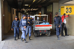 28-07-18 Emirates Airline Park, Johannesburg. Super Rugby semi-final Emirates Lions vs NSW Waratahs. Police in the stadium before the start of the semi-final. Picture: Karen Sandison/African News Agency (ANA)