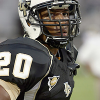 Central Florida cornerback Josh Robinson (20)during an NCAA football game between the Boston College Eagles and the UCF Knights at Bright House Networks Stadium on Saturday, September 10, 2011 in Orlando, Florida. (AP Photo/Alex Menendez)