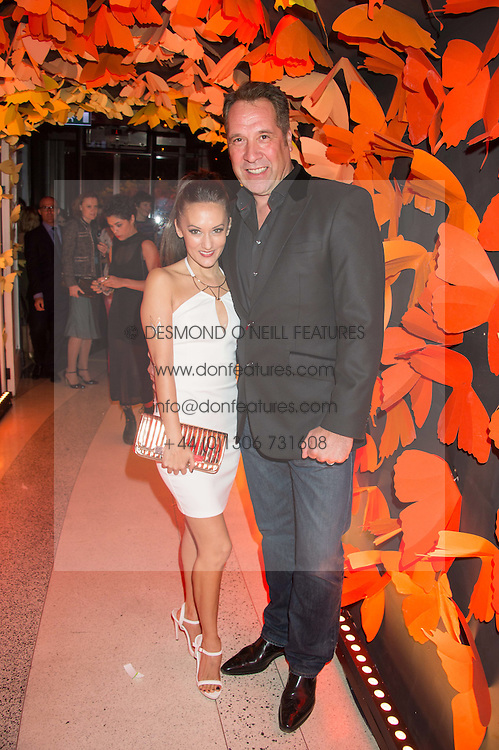 DAVID SEAMAN and FRANKIE POULTNEY at the 3rd anniversary party of Sushisamba at the Heron Tower, 110 Bishopsgate, City of London on 10th November 2015.