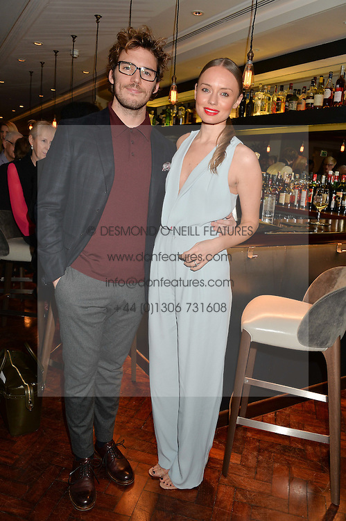 LAURA HADDOCK and SAM CLAFLIN at a dinner to celebrate 20 years of Maria Grachvogel's fashion label held at Salmontini, 1 Pont Street, London on 22nd October 2014.