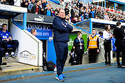 Preston North End Manager Simon Grayson during the Sky Bet Championship match between Reading and Preston North End at the Madejski Stadium, Reading, England on 30 April 2016. Photo by Jon Bromley.