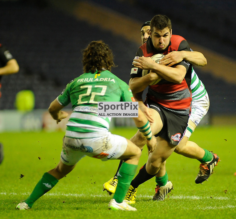 Stuart McInally on a run during the Edinburgh Rugby v Treviso Guinness PRO12 game, ......(c) COLIN LUNN | SportPix.org.uk