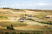 Straw huts in an Ethiopian village