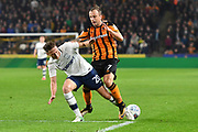 Preston North End defender Ben Davies (20) and Hull City midfielder Kamil Grosicki (7) during the EFL Sky Bet Championship match between Hull City and Preston North End at the KCOM Stadium, Kingston upon Hull, England on 26 September 2017. Photo by Ian Lyall.